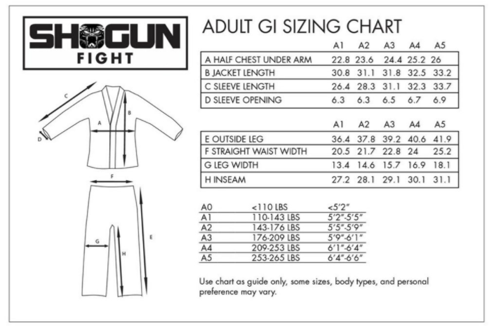 shogun_red_gi_size_chart