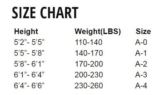 vulkan_prolight_size_chart